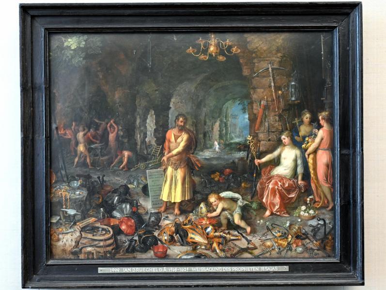 Jan Brueghel der Ältere (Blumenbrueghel): Die Weissagung des Propheten Jesaias, Um 1609