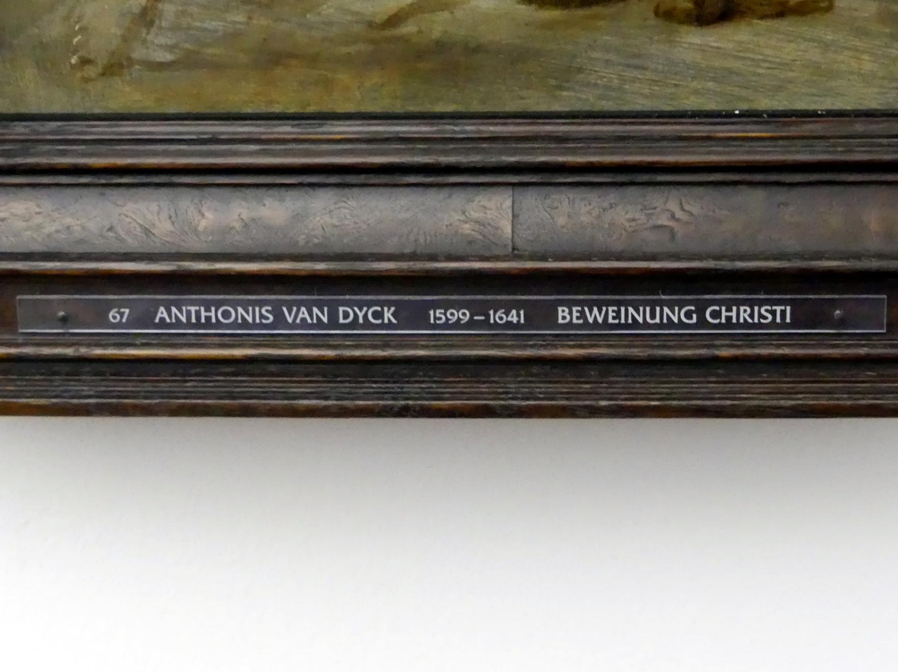 Anthonis (Anton) van Dyck: Beweinung Christi (Skizze), Um 1616 - 1617
