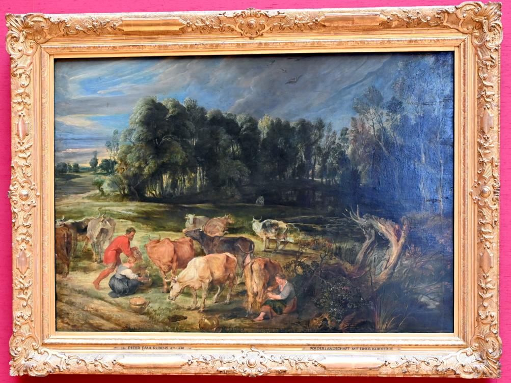 Peter Paul Rubens: Landschaft mit einer Kuhherde, um 1618