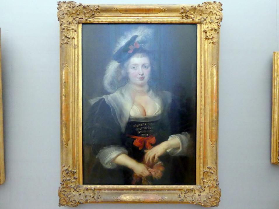Peter Paul Rubens: Helene Fourment, einen Handschuh anziehend, um 1632