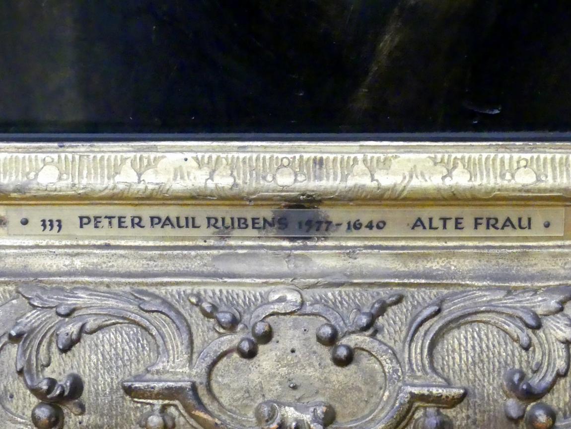 Peter Paul Rubens: Kopfstudie einer alten Frau, Um 1630 - 1632