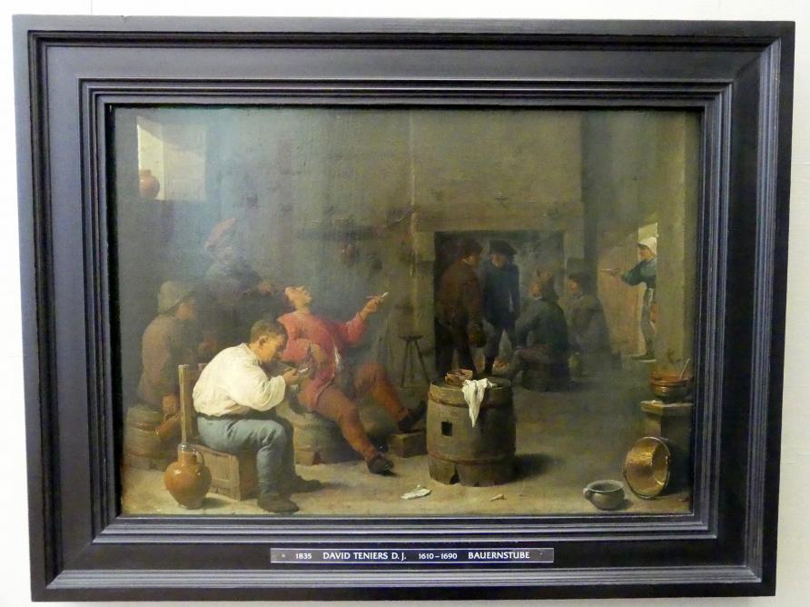 David Teniers der Jüngere: Bauernstube, um 1635
