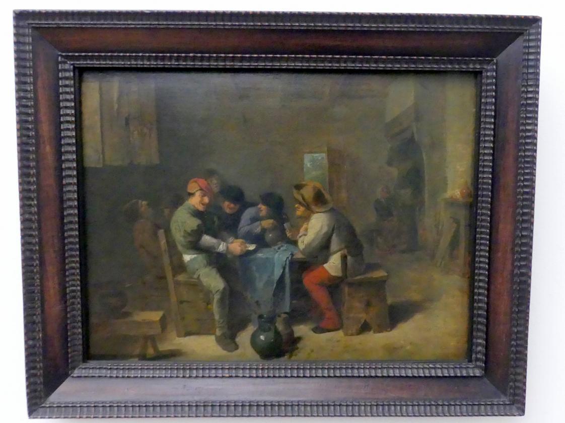 Adriaen Brouwer: Kartenspielende Bauern in einer Schenke, Um 1635
