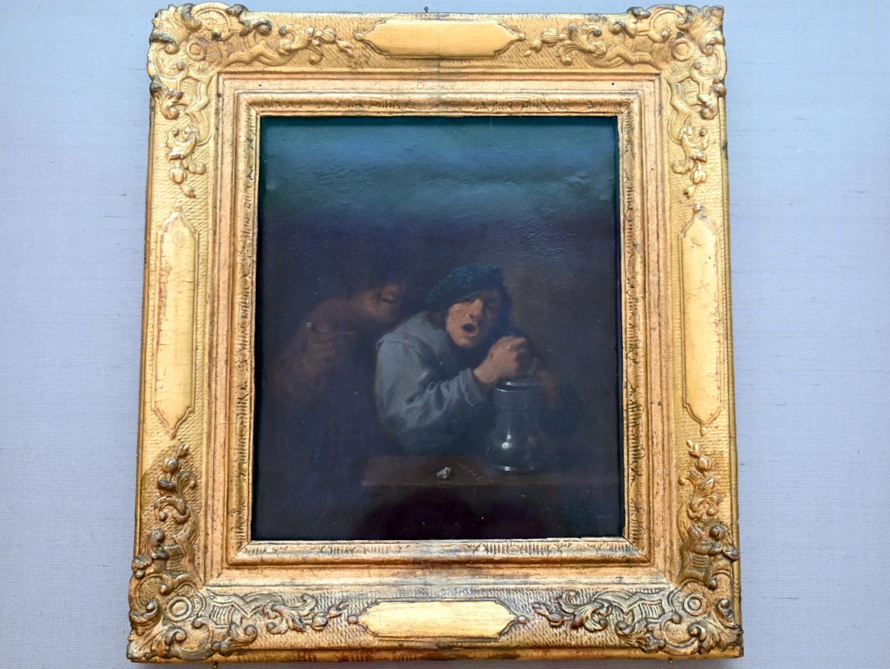 David Teniers der Jüngere: Zwei singende Bauern, Um 1633