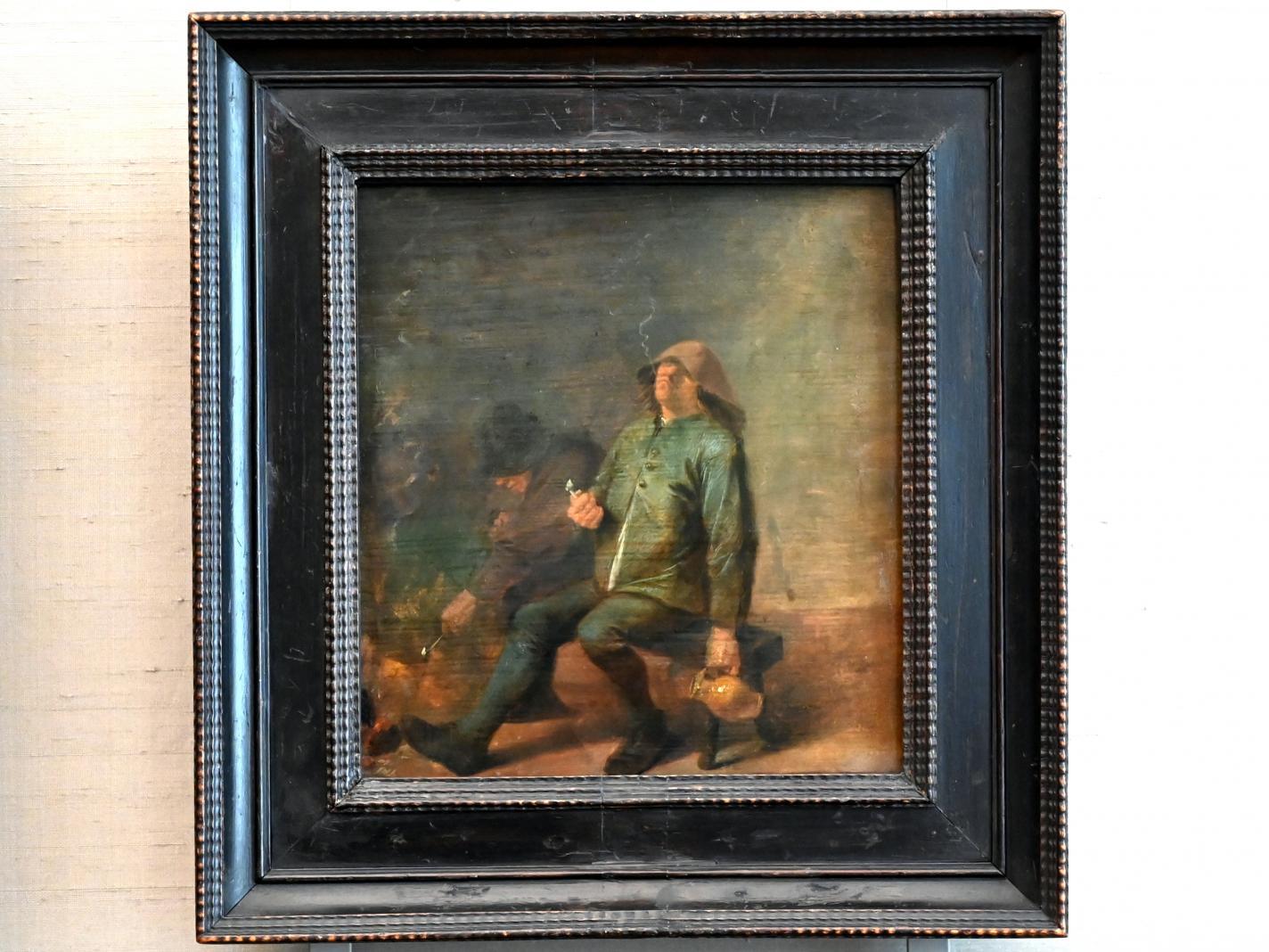 Adriaen Brouwer: Zwei rauchende Bauern am Kamin, 1625 - 1638