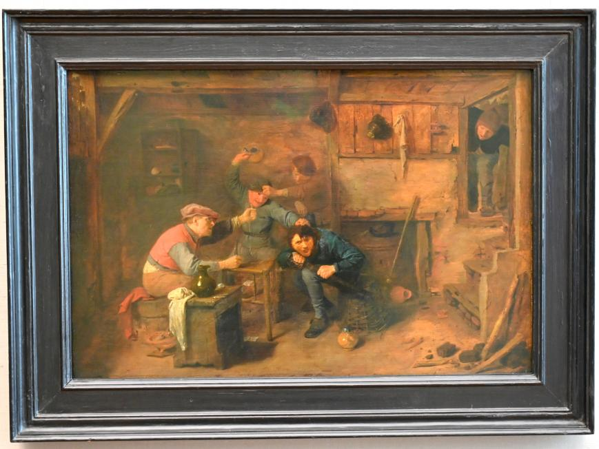 Adriaen Brouwer: Raufende Kartenspieler in einer Schenke, 1632 - 1633
