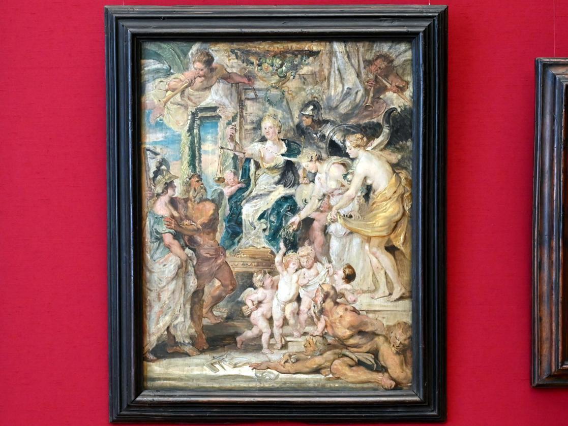 Peter Paul Rubens: Die glückliche Regierung (Skizze zum Medici-Zyklus), 1625