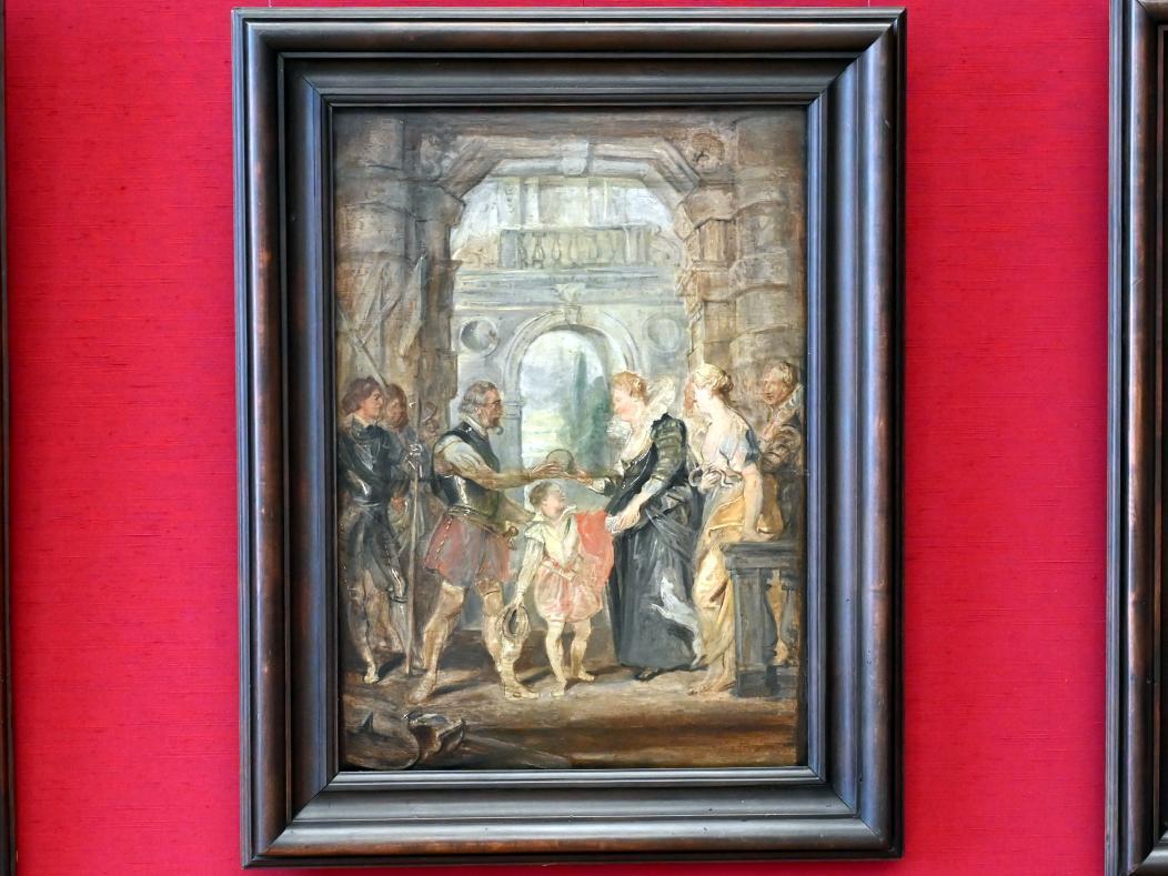Peter Paul Rubens: Die Übergabe der Regentschaft (Skizze zum Medici-Zyklus), 1622