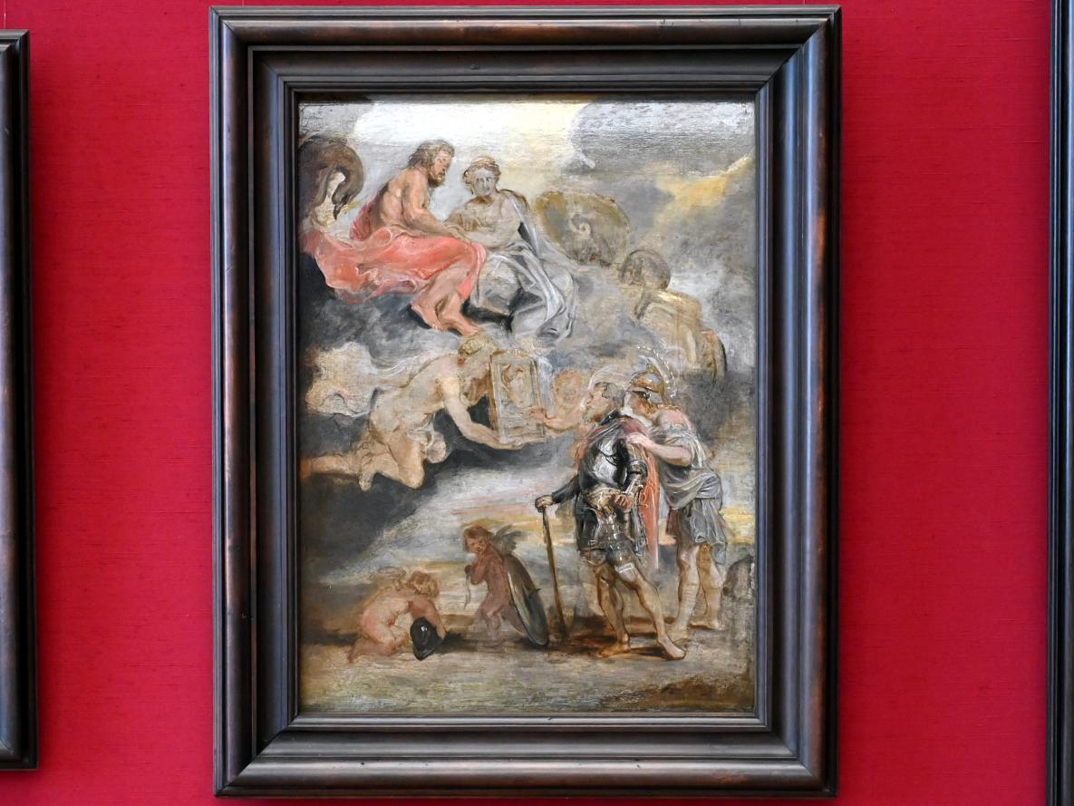 Peter Paul Rubens: Heinrich IV. empfängt das Bildnis der Maria de' Medici (Skizze zum Medici-Zyklus), 1622