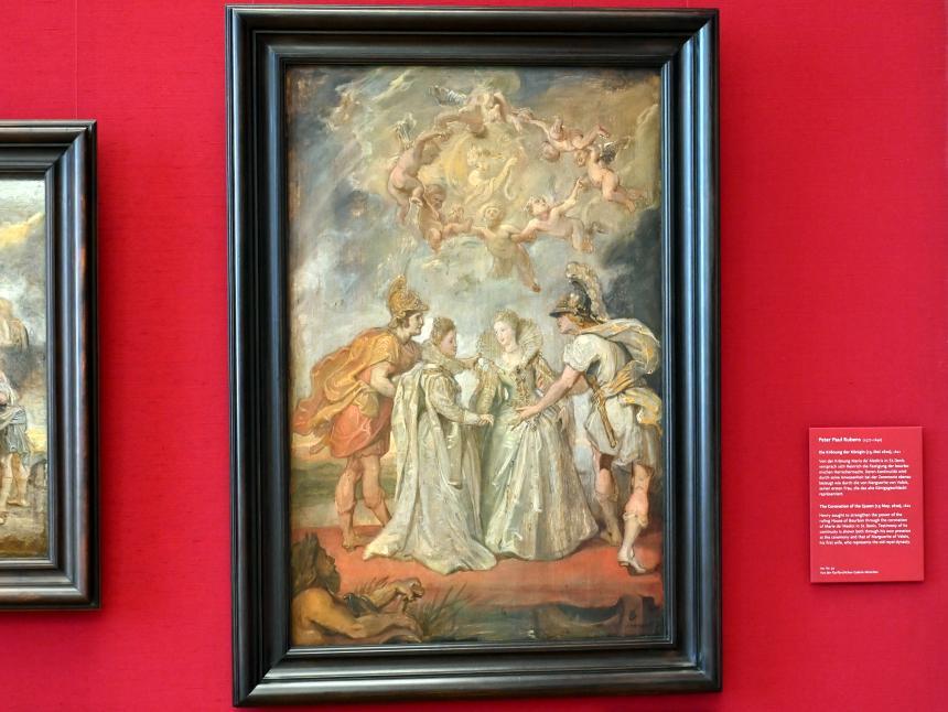 Peter Paul Rubens: Die Familienverbindung zwischen Frankreich und Spanien (Skizze zum Medici-Zyklus), 1622