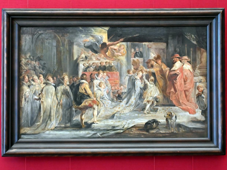 Peter Paul Rubens: Die Krönung der Königin (Skizze zum Medici-Zyklus), 1622