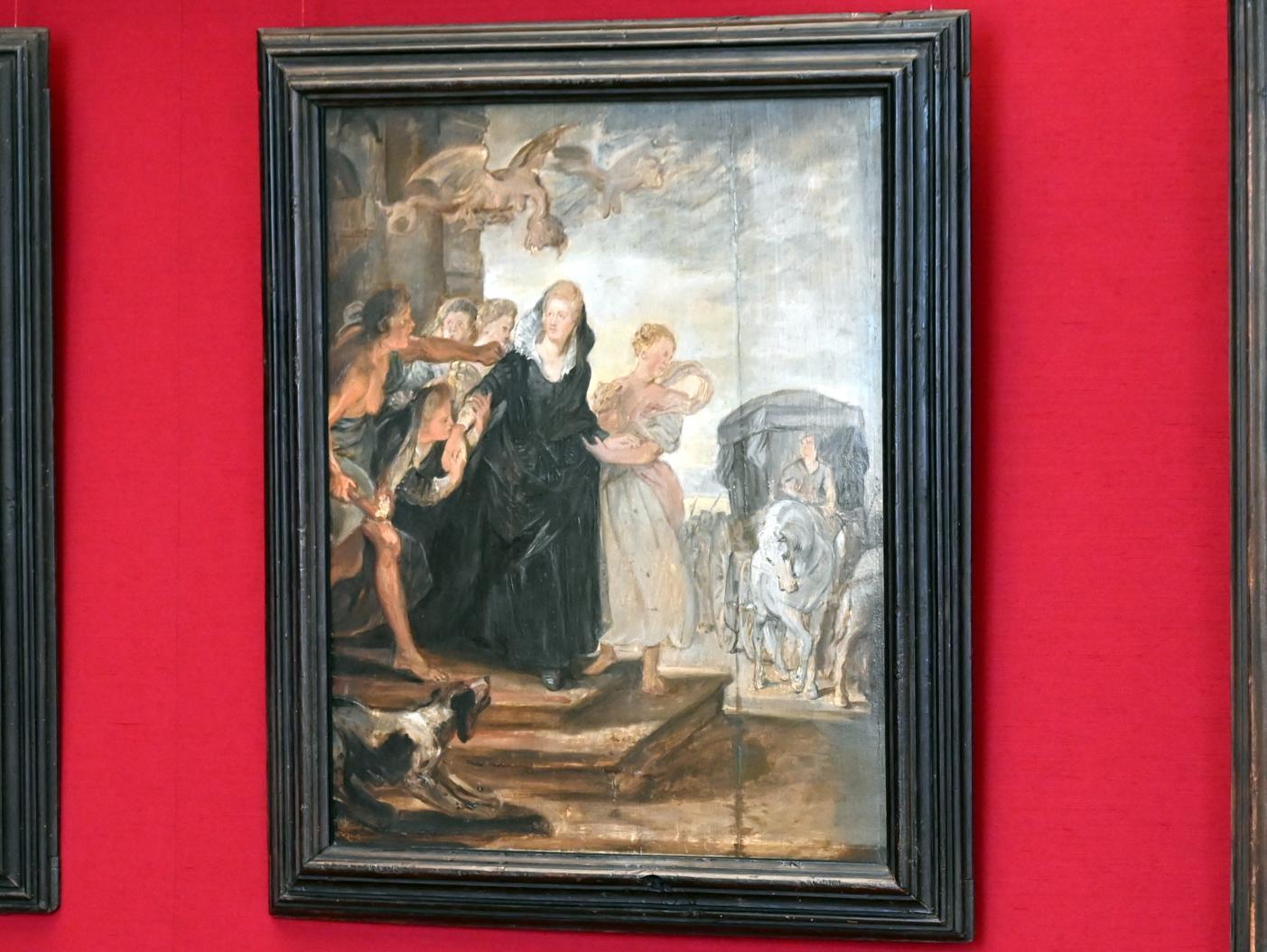 Peter Paul Rubens: Der Weggang aus Paris (Skizze zum Medici-Zyklus), 1622