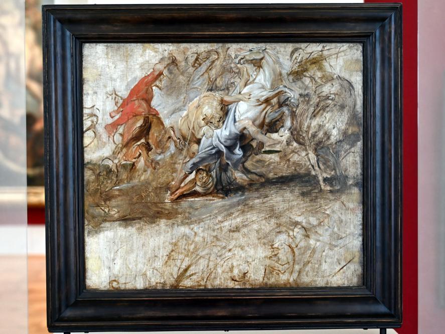 Peter Paul Rubens: Löwenjagd (Skizze), 1621