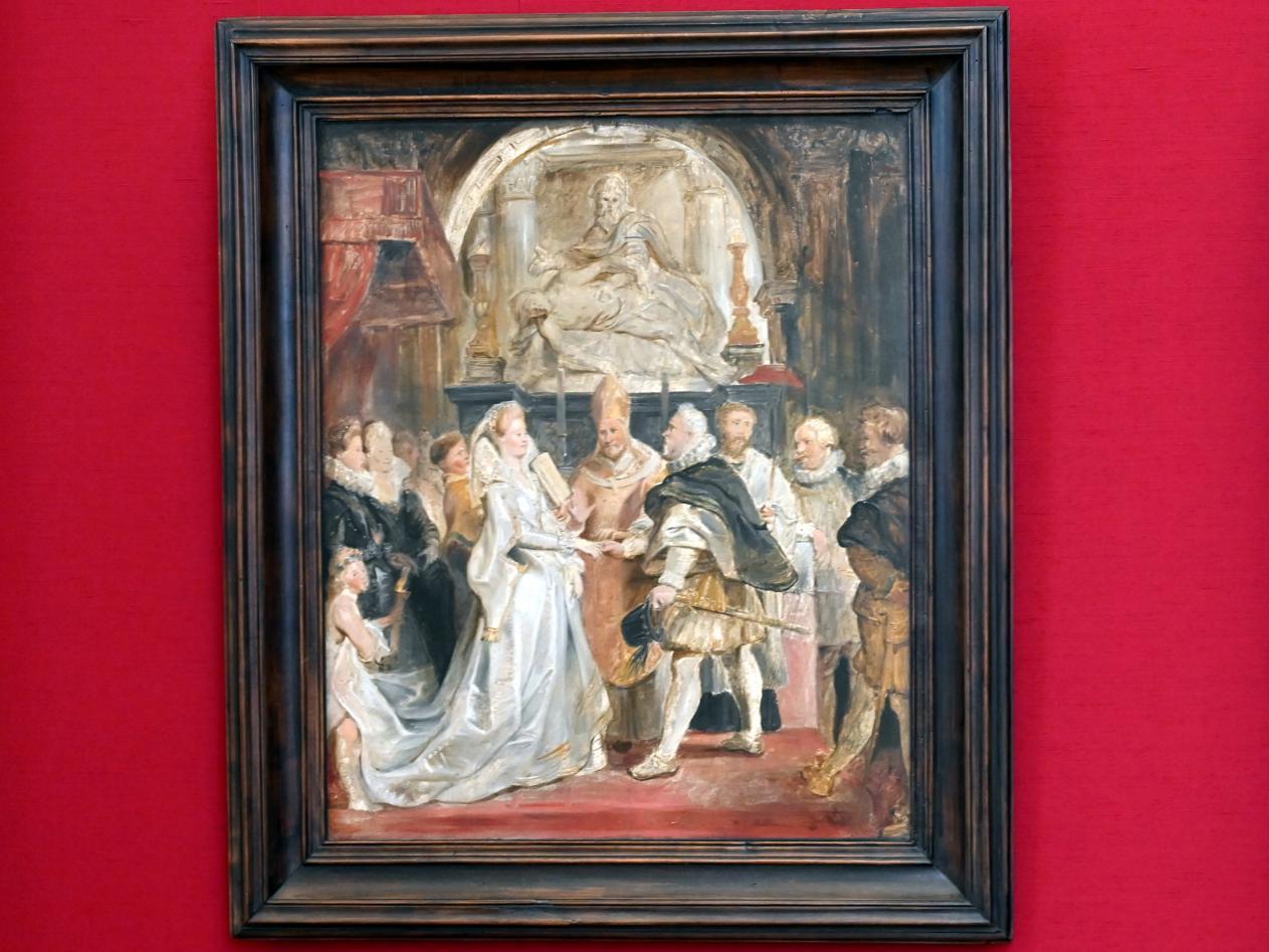 """Peter Paul Rubens: Die Vermählung """"in procuratione"""" (Skizze zum Medici-Zyklus), 1622 - 1623"""