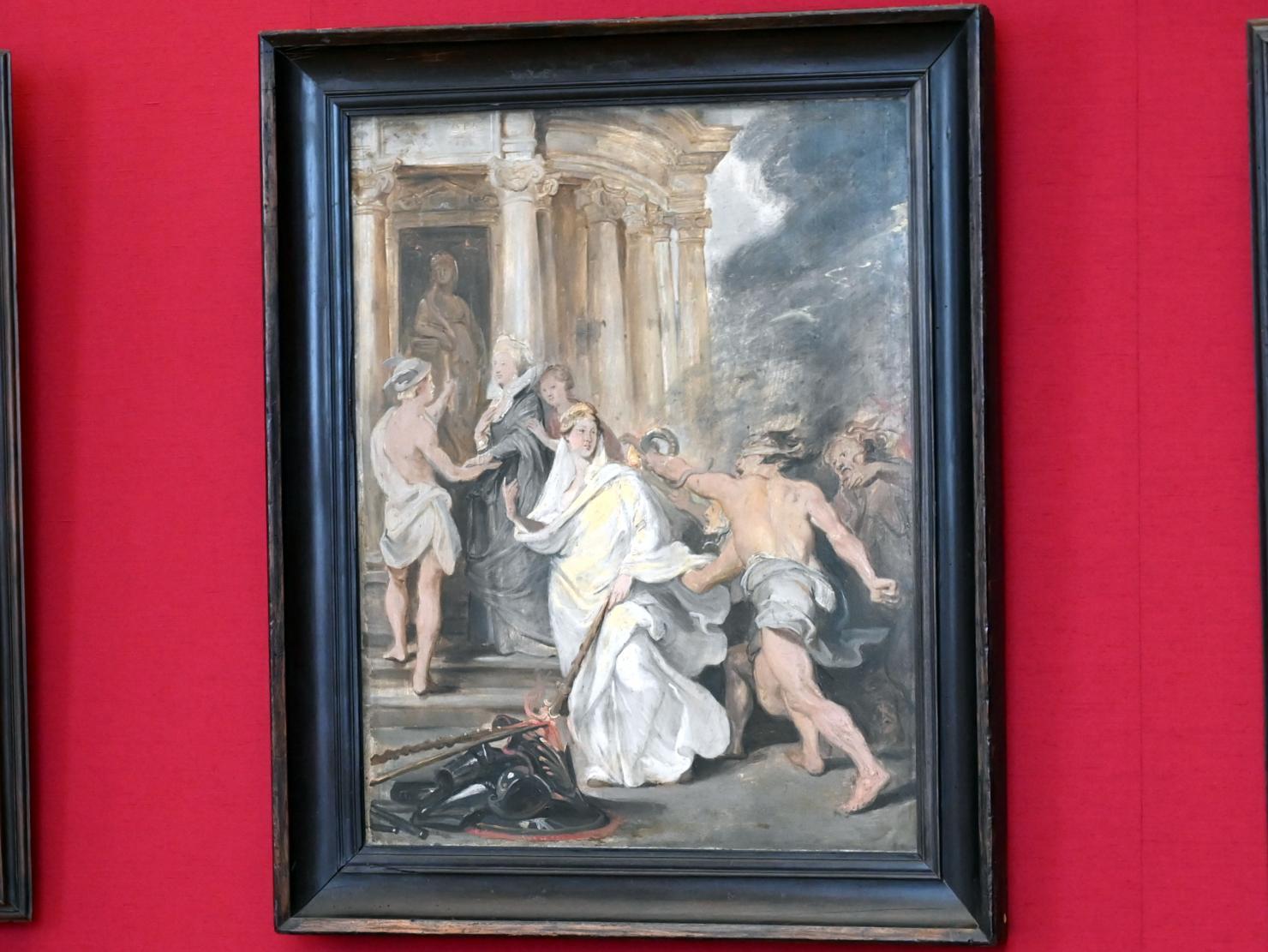 Peter Paul Rubens: Der Friedenschluss in Angers (Skizze zum Medici-Zyklus), 1622