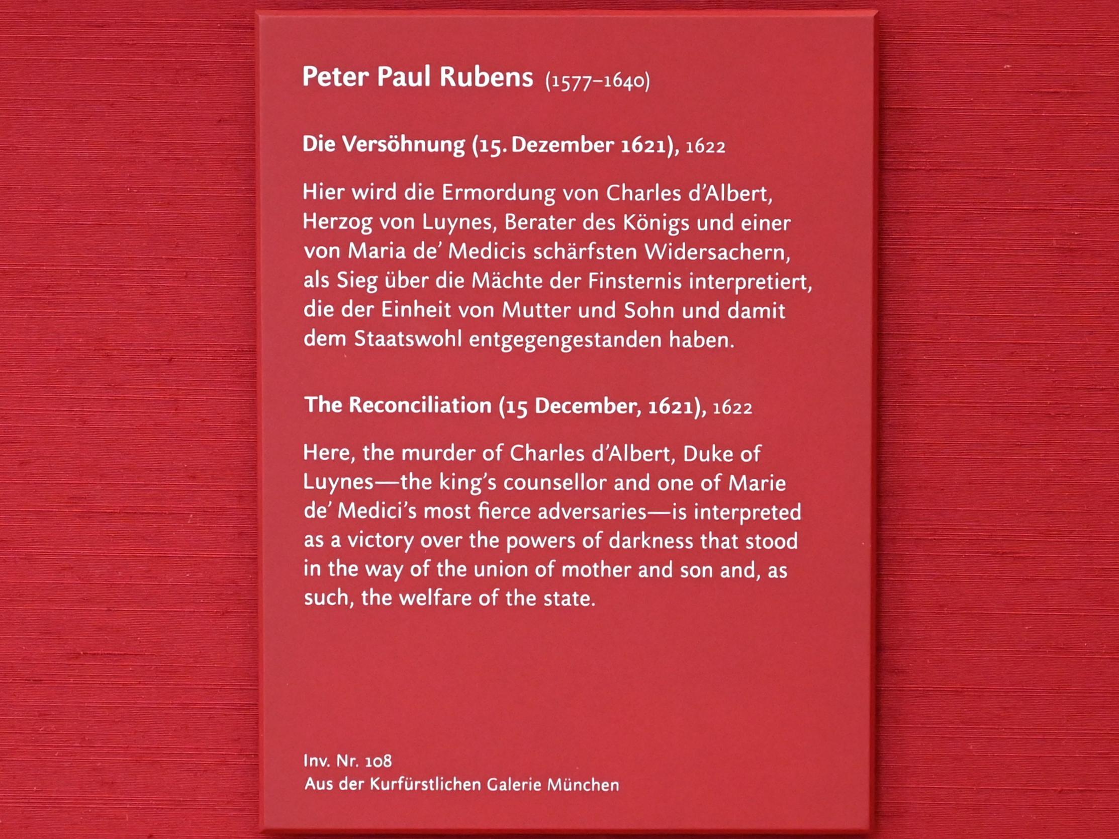 Peter Paul Rubens: Die Versöhnung (Skizze zum Medici-Zyklus), 1622, Bild 2/2