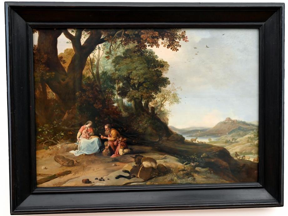 Bartholomeus Breenbergh: Landschaft mit Ruhe auf der Flucht, 1634