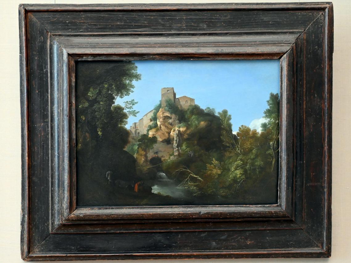 Cornelis van Poelenburgh: Landschaft bei Tivoli, Um 1622