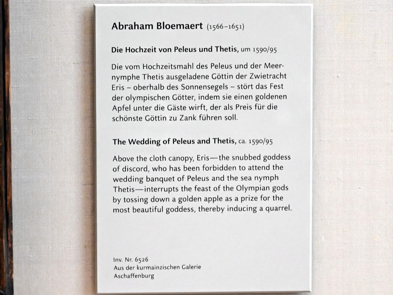 Abraham Bloemaert: Die Hochzeit von Peleus und Thetis, um 1590 - 1595, Bild 2/2