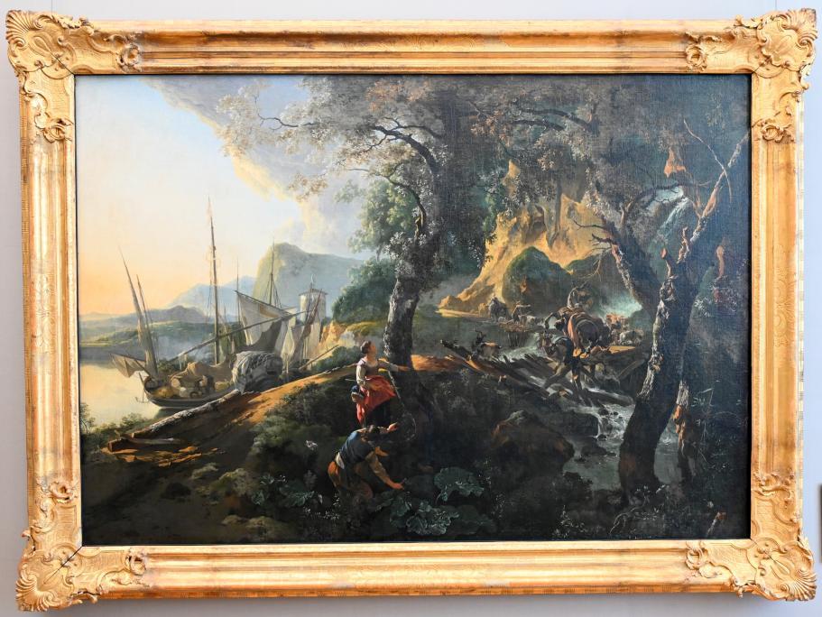 Adam Pynacker: Landschaft mit einstürzender Brücke, 1659