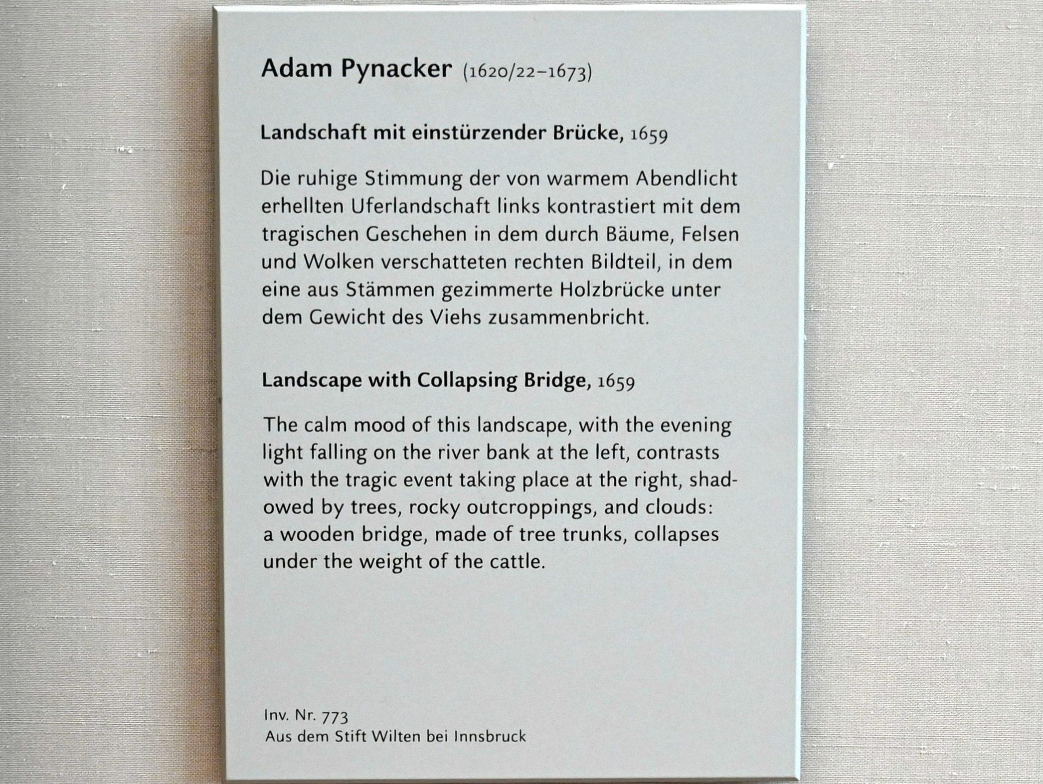 Adam Pynacker: Landschaft mit einstürzender Brücke, 1659, Bild 2/2