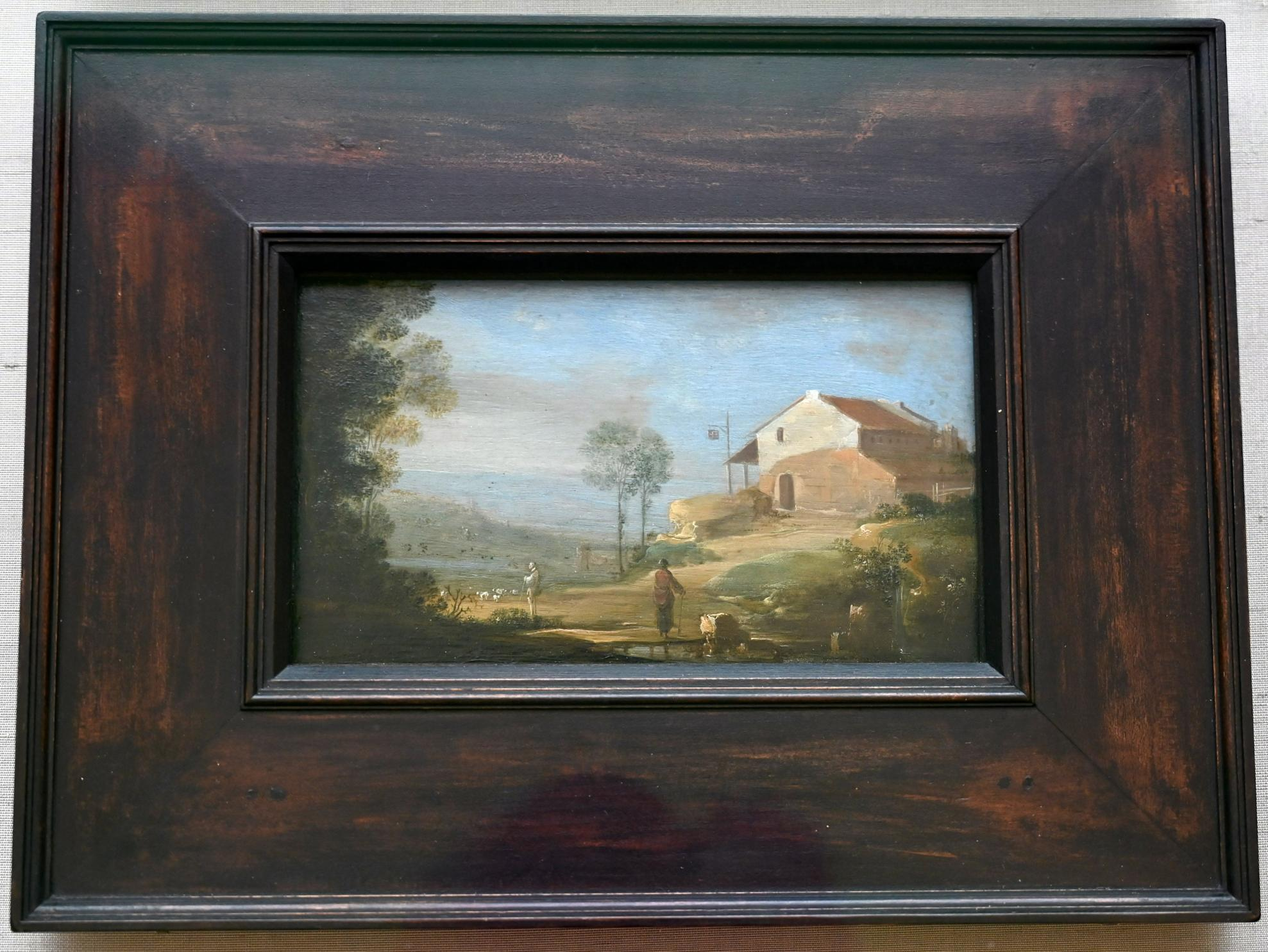 Carel de Hooch: Landschaft mit Haus, Um 1628 - 1638