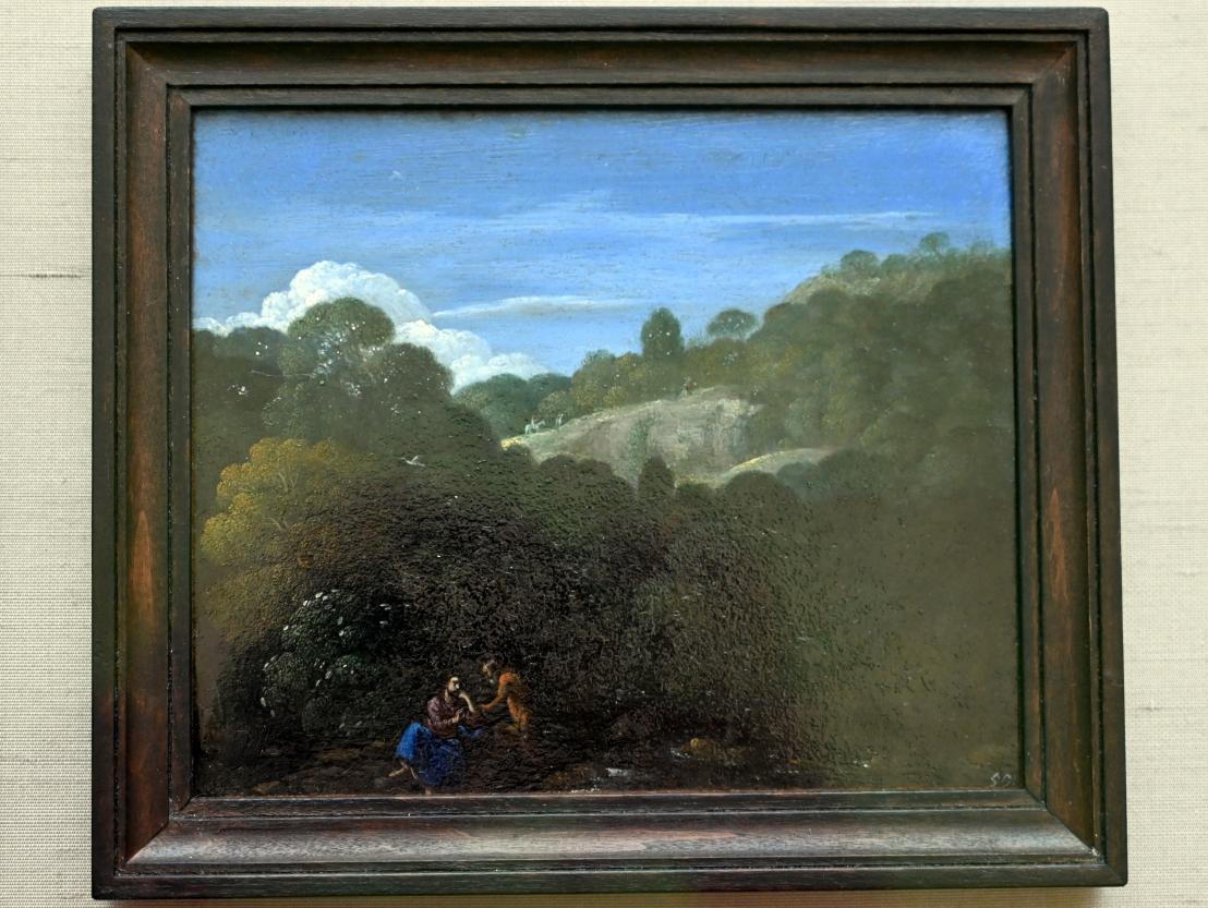 Eglon Hendrick van der Neer: Landschaft mit Versuchung Christi, 1698 - 1703