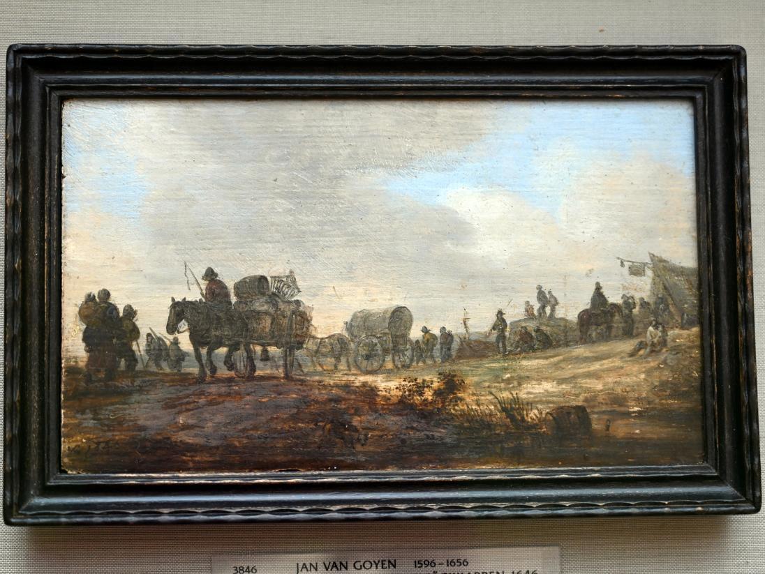 Jan van Goyen: Landschaft mit Bauernkarren, 1646