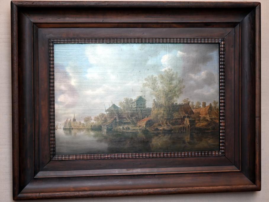 Jan van Goyen: Bauerngehöfte am Fluss, 1636