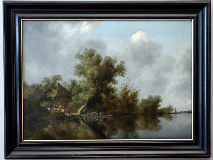 Salomon van Ruysdael: Flusslandschaft mit Fähre, Um 1630 - 1635