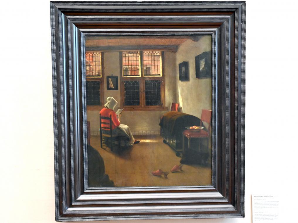 Pieter Janssens Elinga: Lesende Frau, um 1665 - 1670