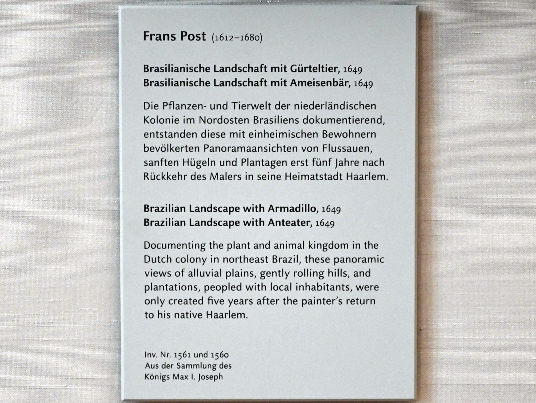 Frans Post: Brasilianische Landschaft mit Ameisenbär, 1649, Bild 2/2