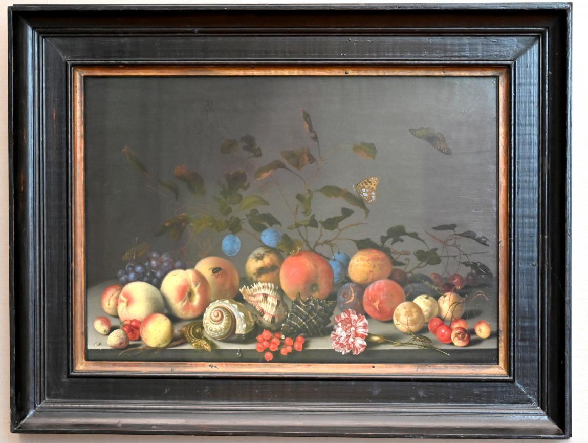 Balthasar van der Ast: Stillleben mit Früchten und Seeschneckenhäusern, Um 1635