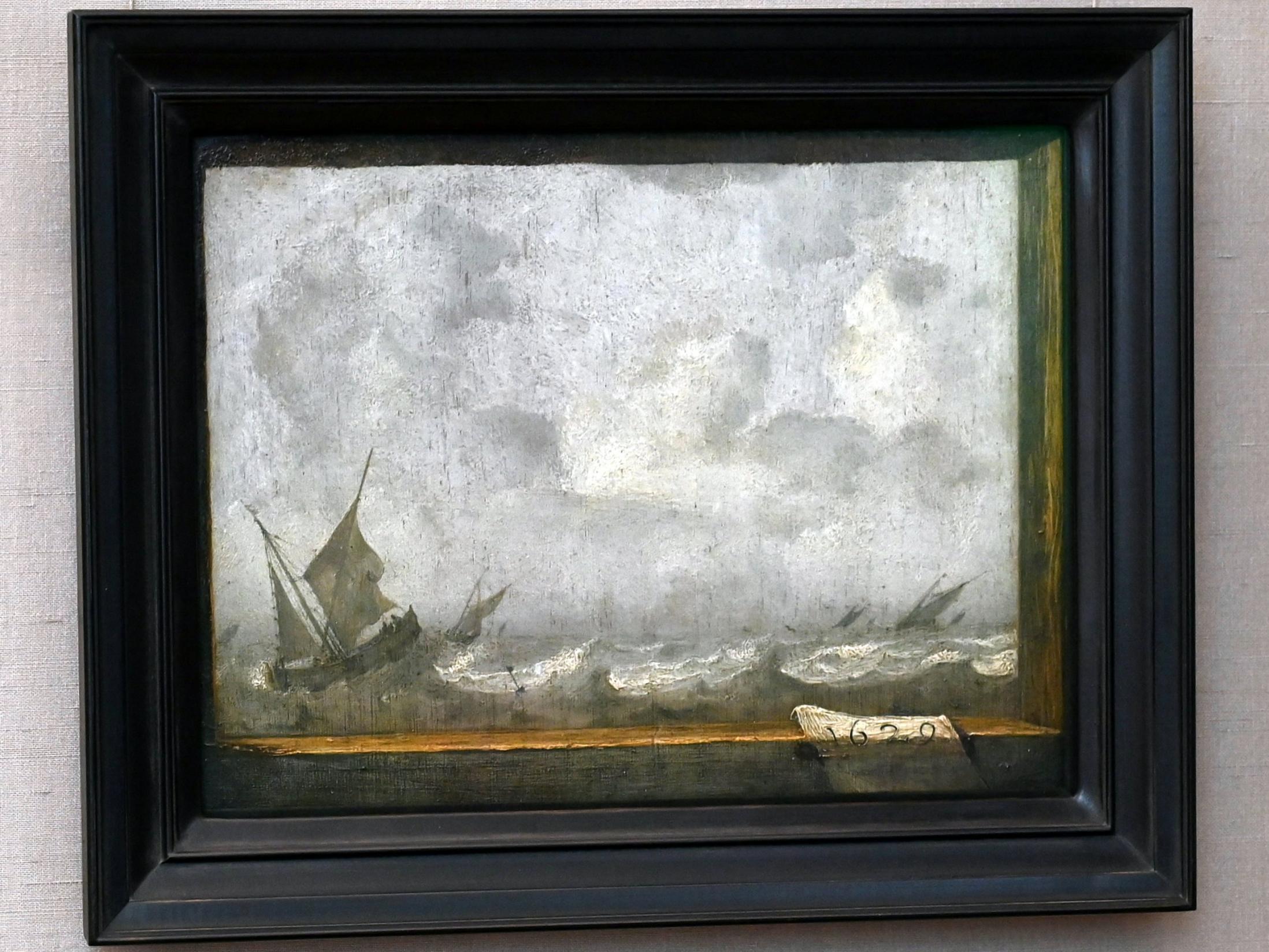 Jan Porcellis: Stürmische See, 1629
