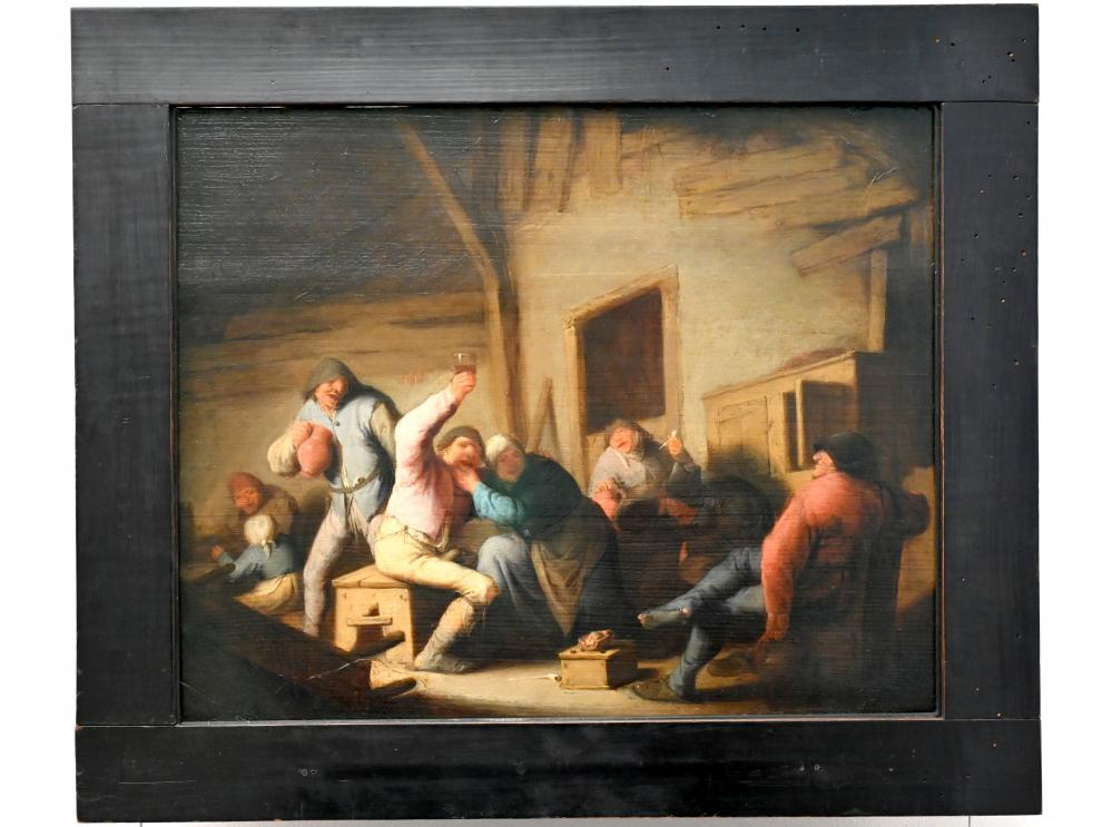 Adriaen van Ostade: Ausgelassene Bauern in einer Schenke, um 1635