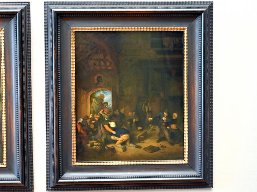 Adriaen van Ostade: Raufende Bauern, 1656
