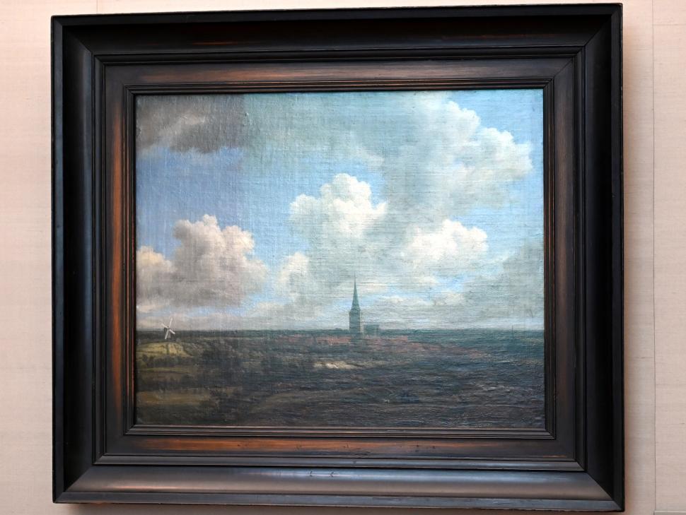 Jacob van Ruisdael: Flachlandschaft mit Ansicht von Ootmarsum (Overijssel), 1660 - 1665