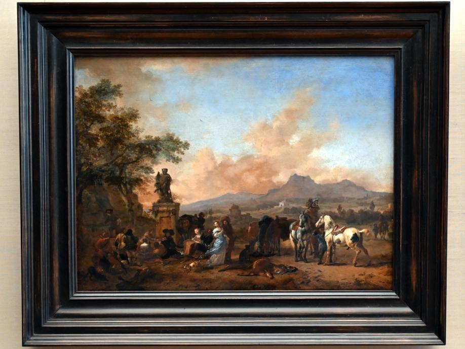 Philips Wouwerman: Rast auf der Hirschjagd, um 1665