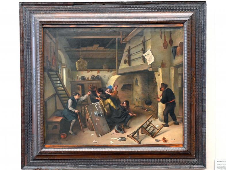 Jan Havickszoon Steen: Schlägerei in einer Schenke, 1664