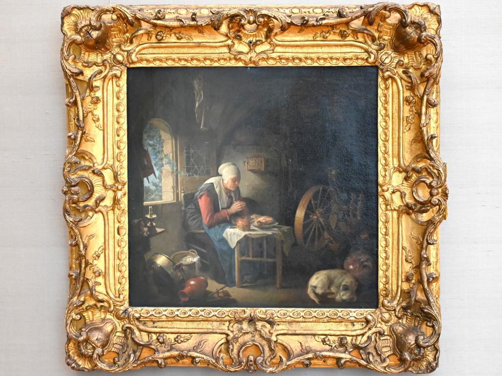 Gerard Dou: Das Tischgebet der Spinnerin, Um 1645