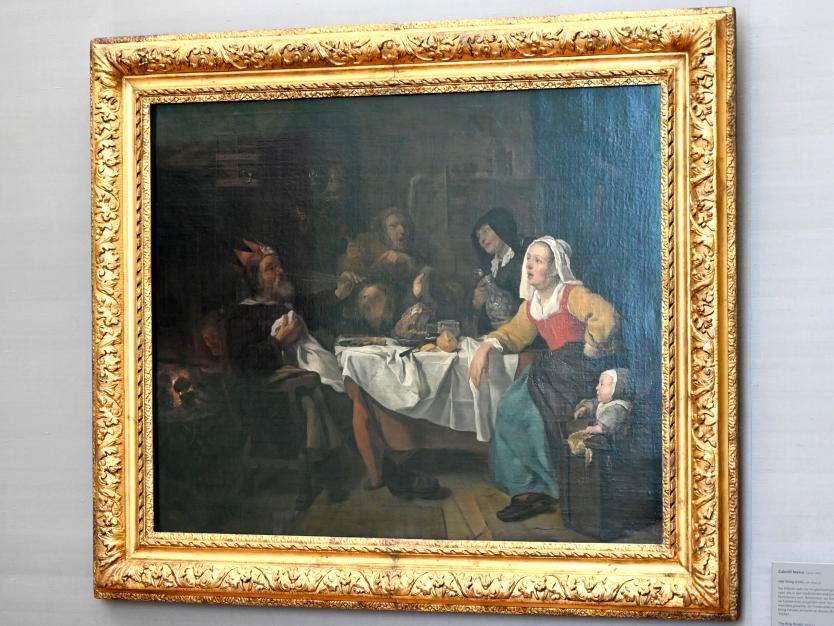 Gabriël Metsu: Der König trinkt, Um 1653 - 1655