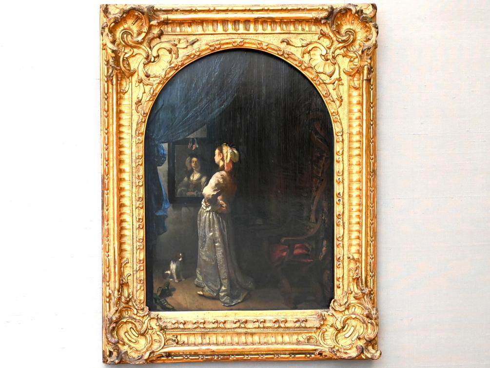Frans van Mieris der Ältere: Dame vor dem Spiegel, Um 1670
