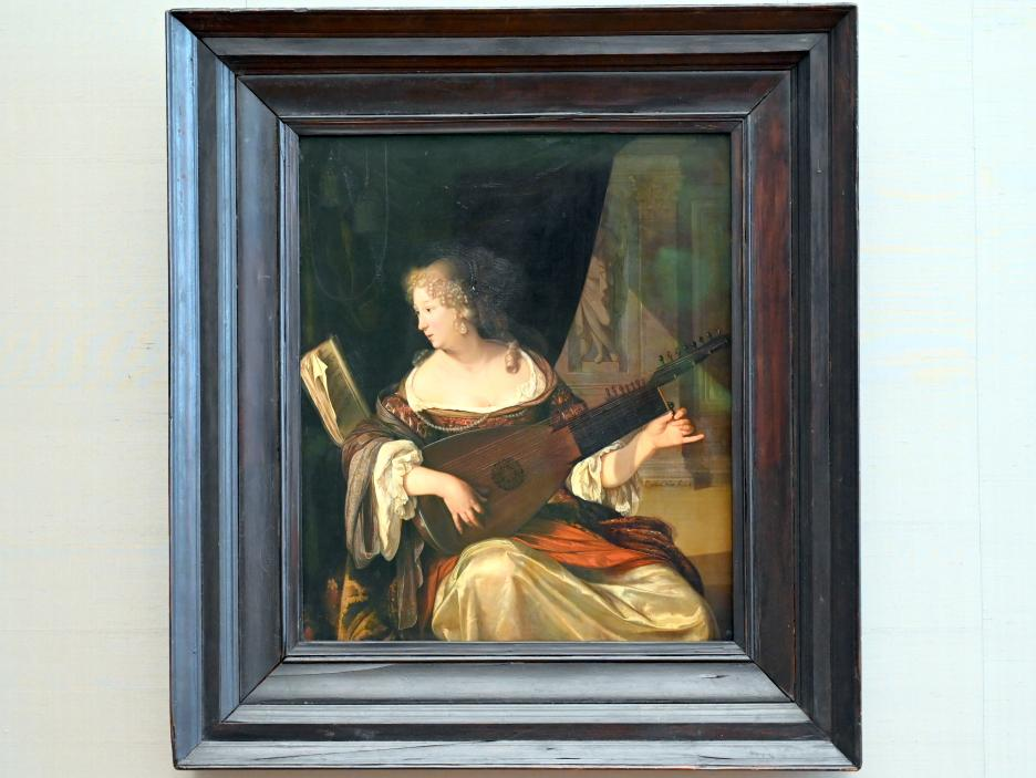 Eglon Hendrick van der Neer: Lautestimmende Dame, 1678