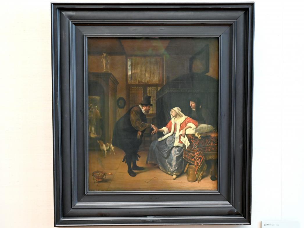 Jan Havickszoon Steen: Der ärztliche Besuch, 1661 - 1663