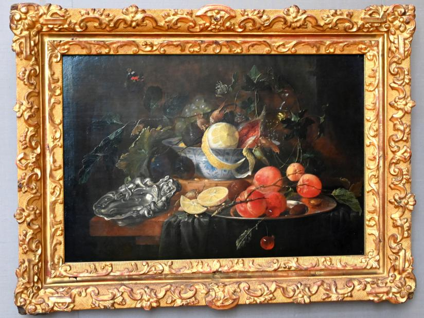 Jan Davidsz. de Heem: Stillleben mit Früchten und Silberschale, um 1652