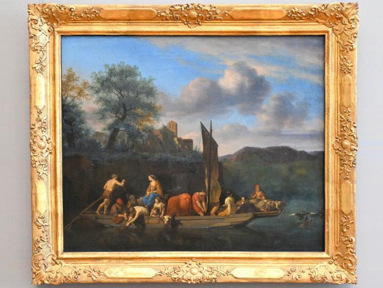 Adriaen van de Velde: Italienische Landschaft mit Fähre, 1667
