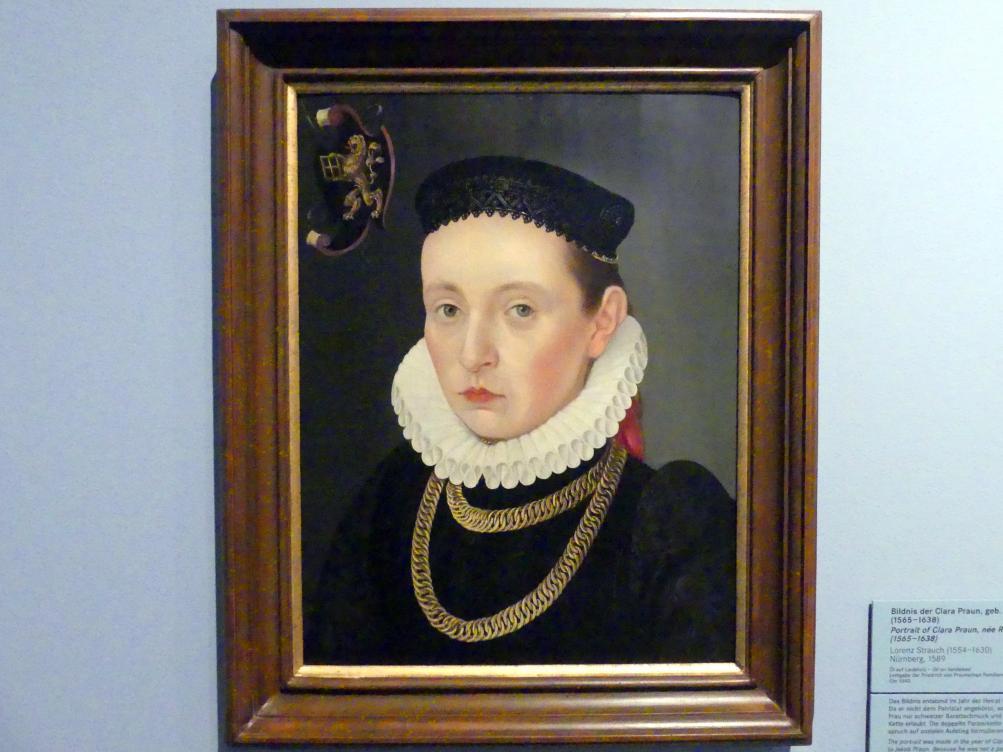 Lorenz Strauch: Bildnis der Clara Praun, geb. Roming, 1589