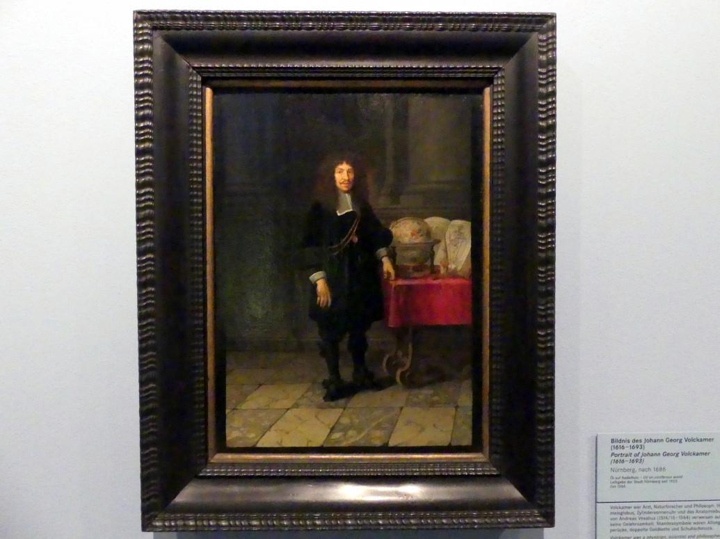 Bildnis des Johann Georg Volkamer (1616-1693), Nach 1686