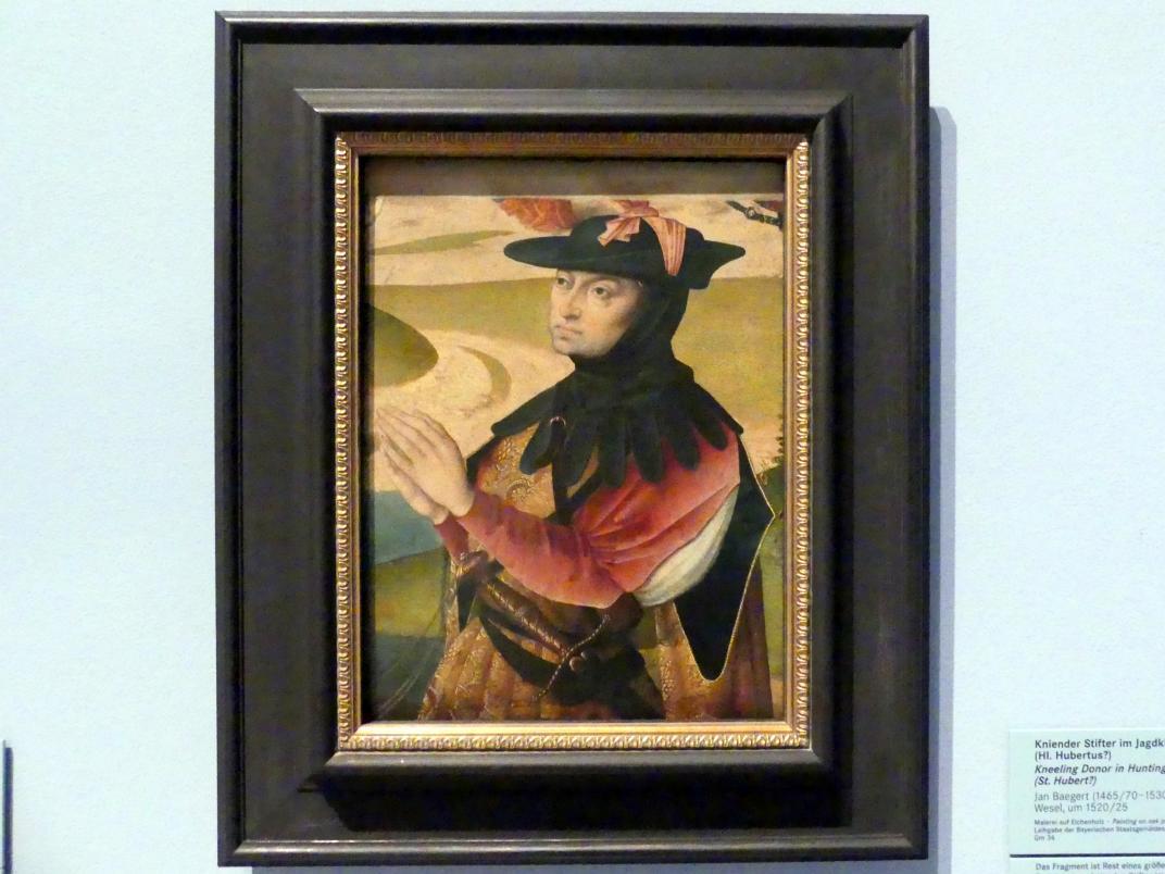 Jan Baegert: Kniender Stifter im Jagdkleid (Hl. Hubertus?), Um 1520 - 1525