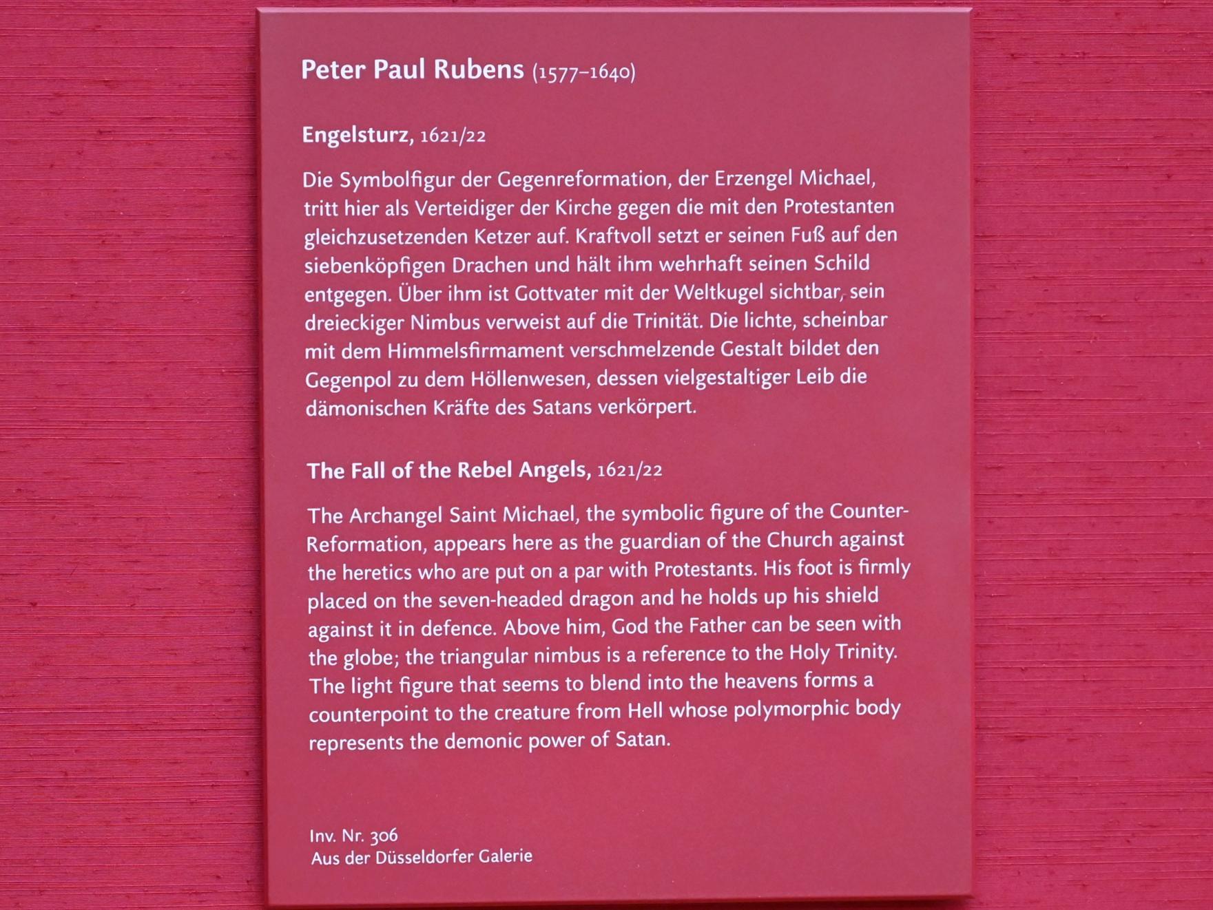 Peter Paul Rubens: Der Engelsturz, 1621 - 1622